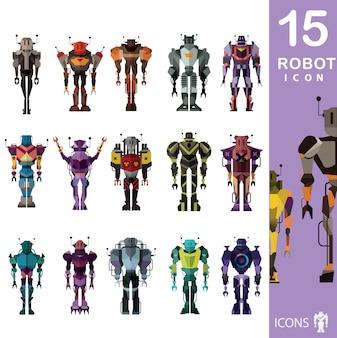Collezione di icone di robot