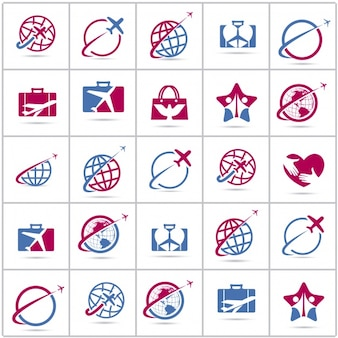 Collezione di logo di viaggio