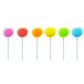 Collezione di lollipop multicolori