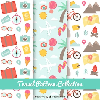 Collezione di pattern di viaggio
