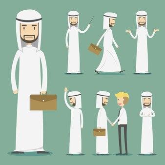 Collezione di personaggi dello sceicco di affari