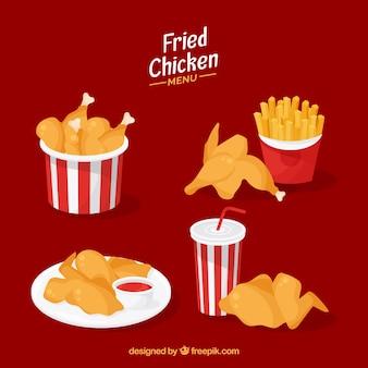 Collezione di pollo fritto