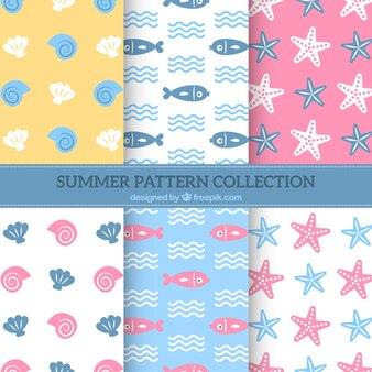 Collezione di sfondo pattern Sealife