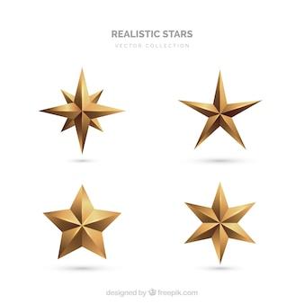 Collezione di stelle realistiche