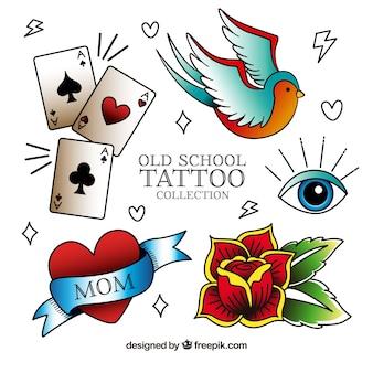 Collezione di tatuaggio vintage