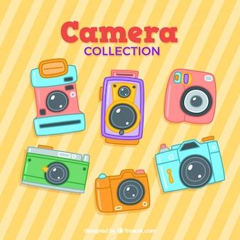 Collezione di telecamere colorate