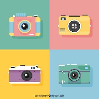 Collezione di telecamere di design piatto piano