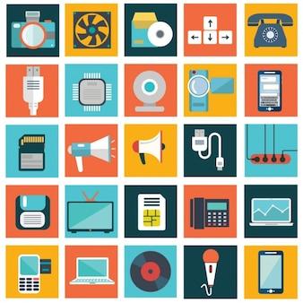 Collezione dispositivi tecnologici