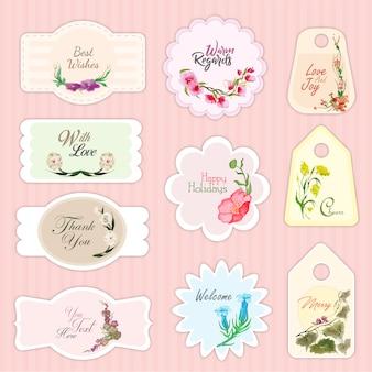 Collezione etichette di nozze