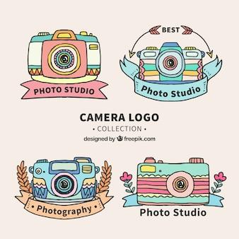 Collezione logo colorato della fotocamera