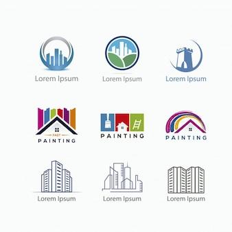 Collezione logo della costruzione
