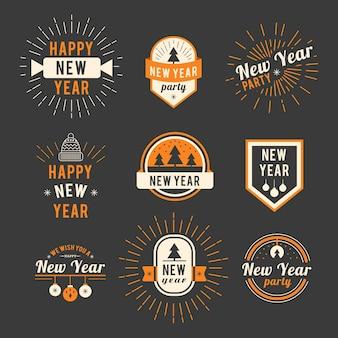 Collezione logo di nuovo anno