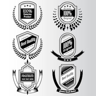 Collezione logo in bianco e nero con nastri