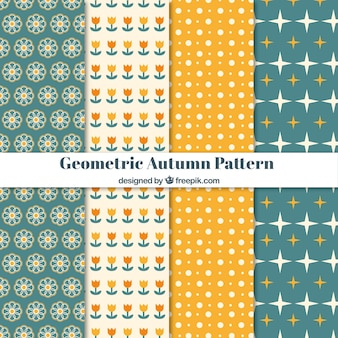 Collezione moderna di modelli geometrici autunnali