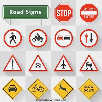 Collezione segnali stradali