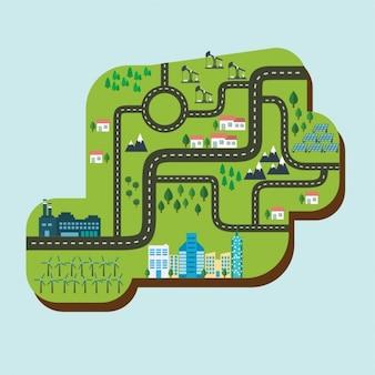 Colorata mappa di progettazione