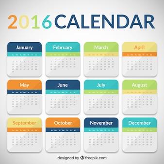 Colorato calendario 2016