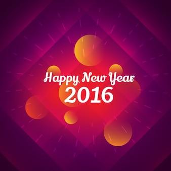 Colorato felice anno nuovo annuncio