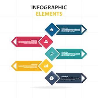 Colorato modello astratto business infographic