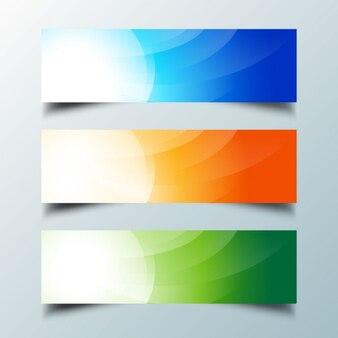Colore astratto banner ondulate