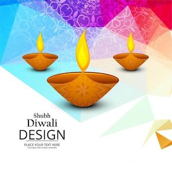 Colorful felice Diwali sfondo moderno