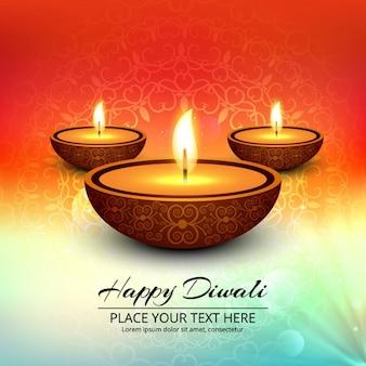 Colorful felice Diwali sfondo