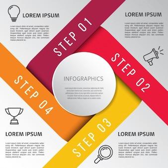 Colori caldi Infographic