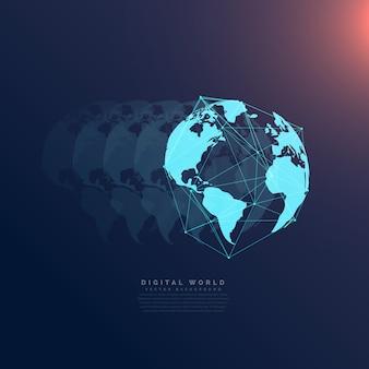 Comunicazione di rete mondo della tecnologia digitale concetto di fondo