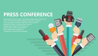 Concetto di conferenza stampa
