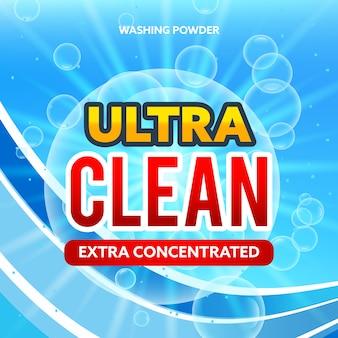 Concetto di confezionamento per detersivi e lavanderie