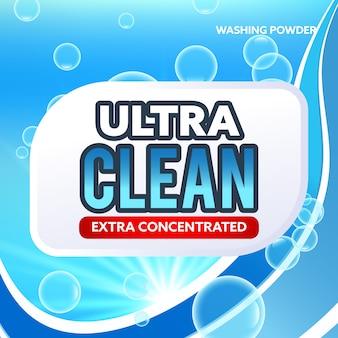 Concetto di copertura per imballaggio blu detergente