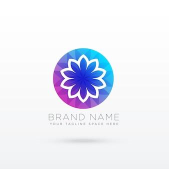 Concetto di design logo fiore vibrante