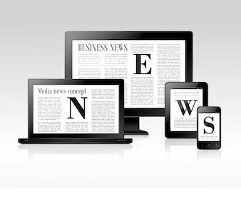 Concetto di notizie sui media