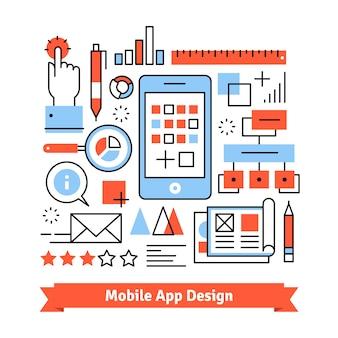 Concetto di processo di sviluppo di app mobile