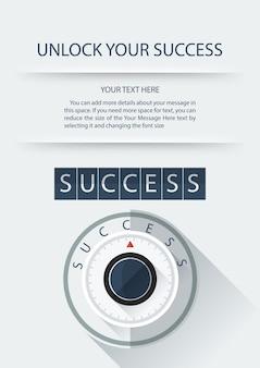Concetto di successo di manopola sicura