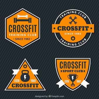Confezione da adesivi CrossFit d'epoca