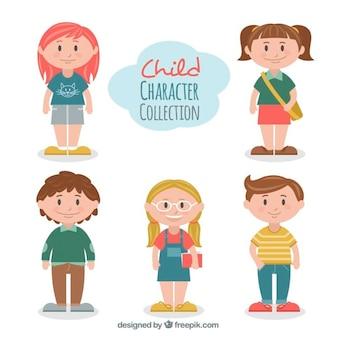 Confezione da bambini belli studenti