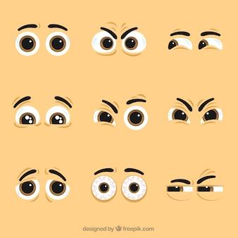 Confezione da bei occhi di caratteri