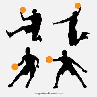Confezione da giocatori di basket sagome