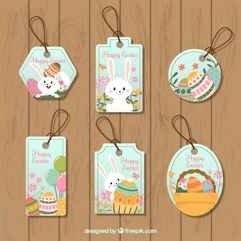 Confezione da tag di Pasqua