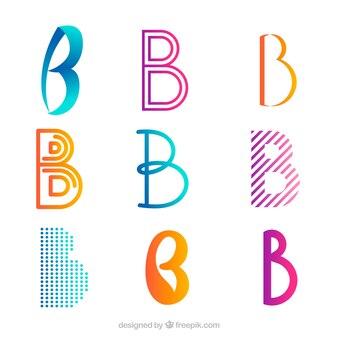 """Confezione di loghi astratti di lettera """"b"""""""