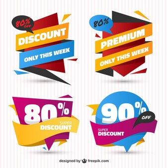 Confezione di vendita adesivi in design piatto