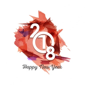 Congratulazione card Happy New Year 2018