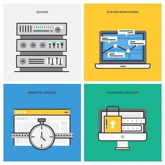 Connessione a Internet disegna collezione