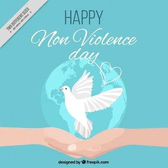 Contesto internazionale giorno non violenza con una colomba