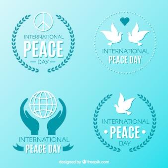 Cool badges per la giornata internazionale della pace