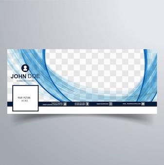 Copertura ondulata blu su facebook