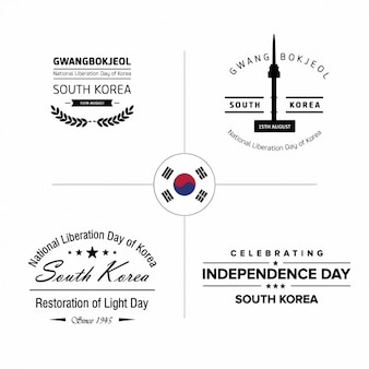 Corea badge Independence Day