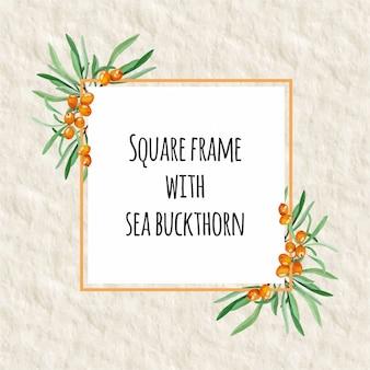 Cornice quadrata floreale