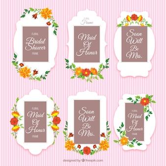 Cornici floreali decorativi per doccia da sposa